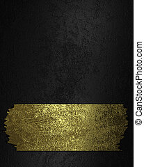 Black background with golden torn sign. Design template....