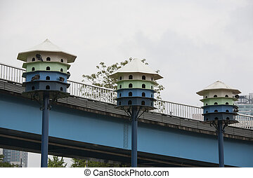 Bird houses in the city,Seoul,Korea