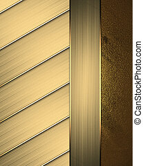 Abstract gold striped background with gold trim - Template...
