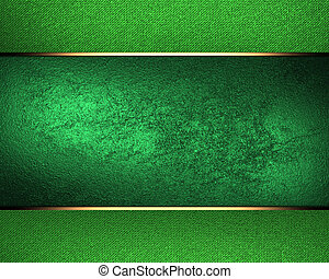 Design template. Green background with green ribbon and old...