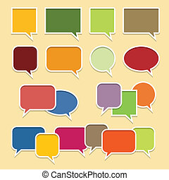 Colorful Talk Bubble Banners - Vector illustration of...