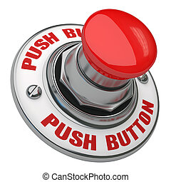 Push Button - Button rugged metal screwed on white...