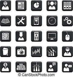 Vector Set Of Icons - Vector set of business icons, symbols...