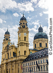 Theatinerkirche at odeonsplatz Munich