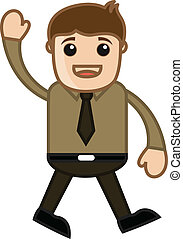 Say Hello - Office Character - Drawing Art of Young Cartoon...