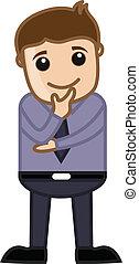 Man Planning - Office Cartoon - Drawing Art of Cartoon Young...