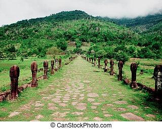 The Castle of Wat Phu in Laos