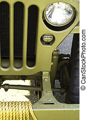American Military Jeep - Macro of a vintage American...