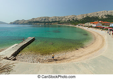 baska - View of the town of Baska on the island of Krk,...