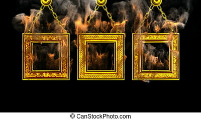 burning frames Alpha matted