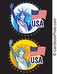 Statue Liberty USA travel icon