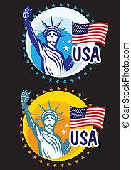 Statue Liberty USA travel icon