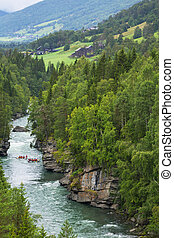 Rafting in Norway