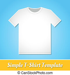 Simple T-Shirt template - Simple white T-shirt template...