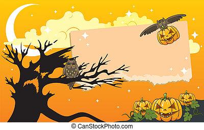 Halloween themed illustration