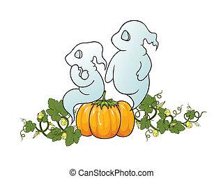 Halloween themed illustration.