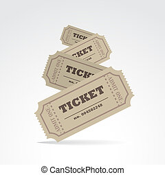 Tickets - Set of tickets with shadow - illustration