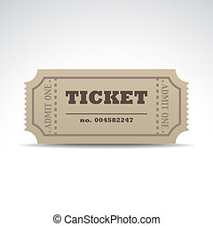 Tickets with a shadow - illustration