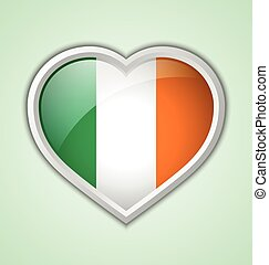 Irish heart icon