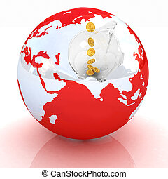 Global Banking concept. On white background