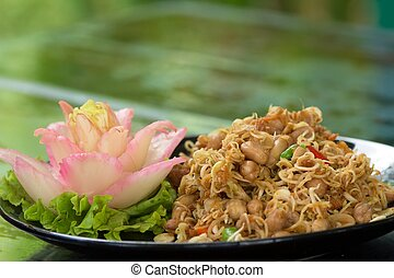 Thai spicy salad with peanuts