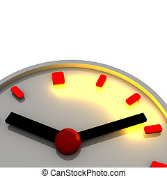 Time interval illustration. 3d rendered image.