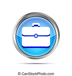 blue briefcase icon on a white background