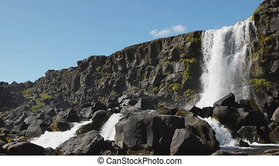pingvellir tectonic plate - Melting glacial waters on...