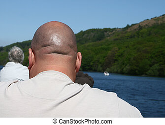 bald head - back of a mans bald head