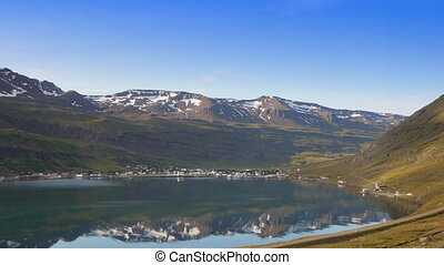 sejdisfjourd fjord - The village of sejdisfjourd sits at the...