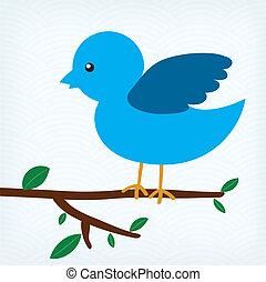 illustration of blue bird