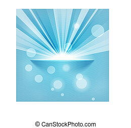 sun on blue background