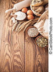 Traditional kitchen ingredients