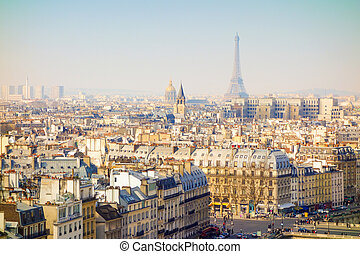 antique city view in paris Europe