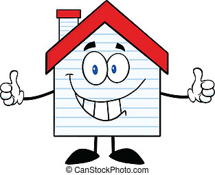 Smiling House With New Siding - Smiling House Cartoon...