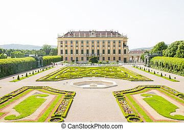 Schonbrunn Palace in Wien, Austria - Privy garden of...