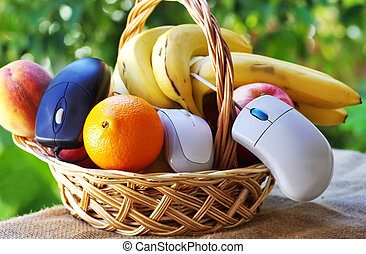 online fruits and basket shopping