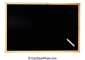 empty blackboard - empty chalkboard with space for a text...