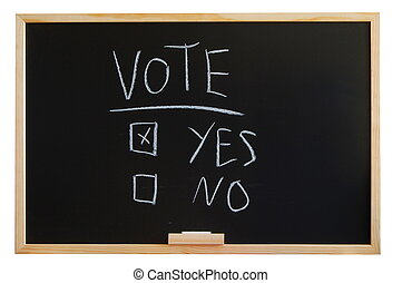 vote yes or no - blackboard where you can vote yes or no