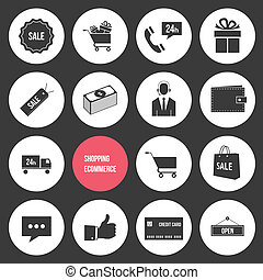 Vector Shopping and Ecommerce Icons