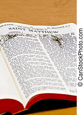 Rosary Bible Page - Saint Matthew