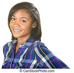 Enthusiastic Young Woman - Enthusiastic young Black female...