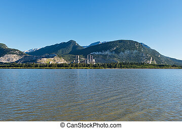 Lac des Arcs and the tiny town of Exshaw, Alberta, Canada