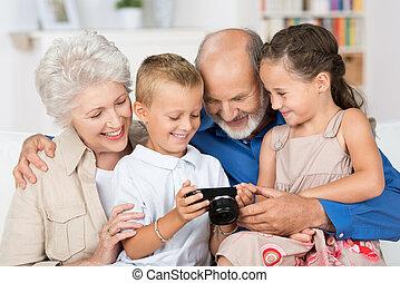 nietos, su, abuelos