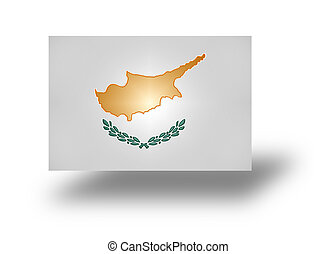Flag of Cyprus (stylized I). - National flag and ensign of...