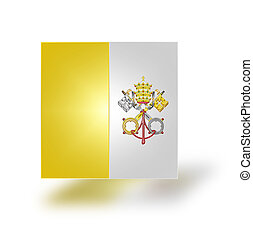 Flag of Vatican stylized I - Flag of the State of the City...