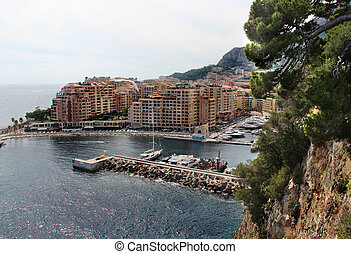 Monte Carlo city, Monaco, Provence - Beautiful view of Monte...