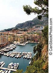 monte, Carlo, cidade, Monaco, Provence
