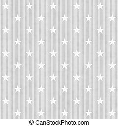 Gray and White Stars and Stripes Fabric Background that is...