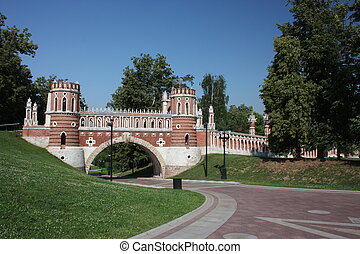Museum Tsaritsyno. Figured bridge - Moscow. Museum - reserve...